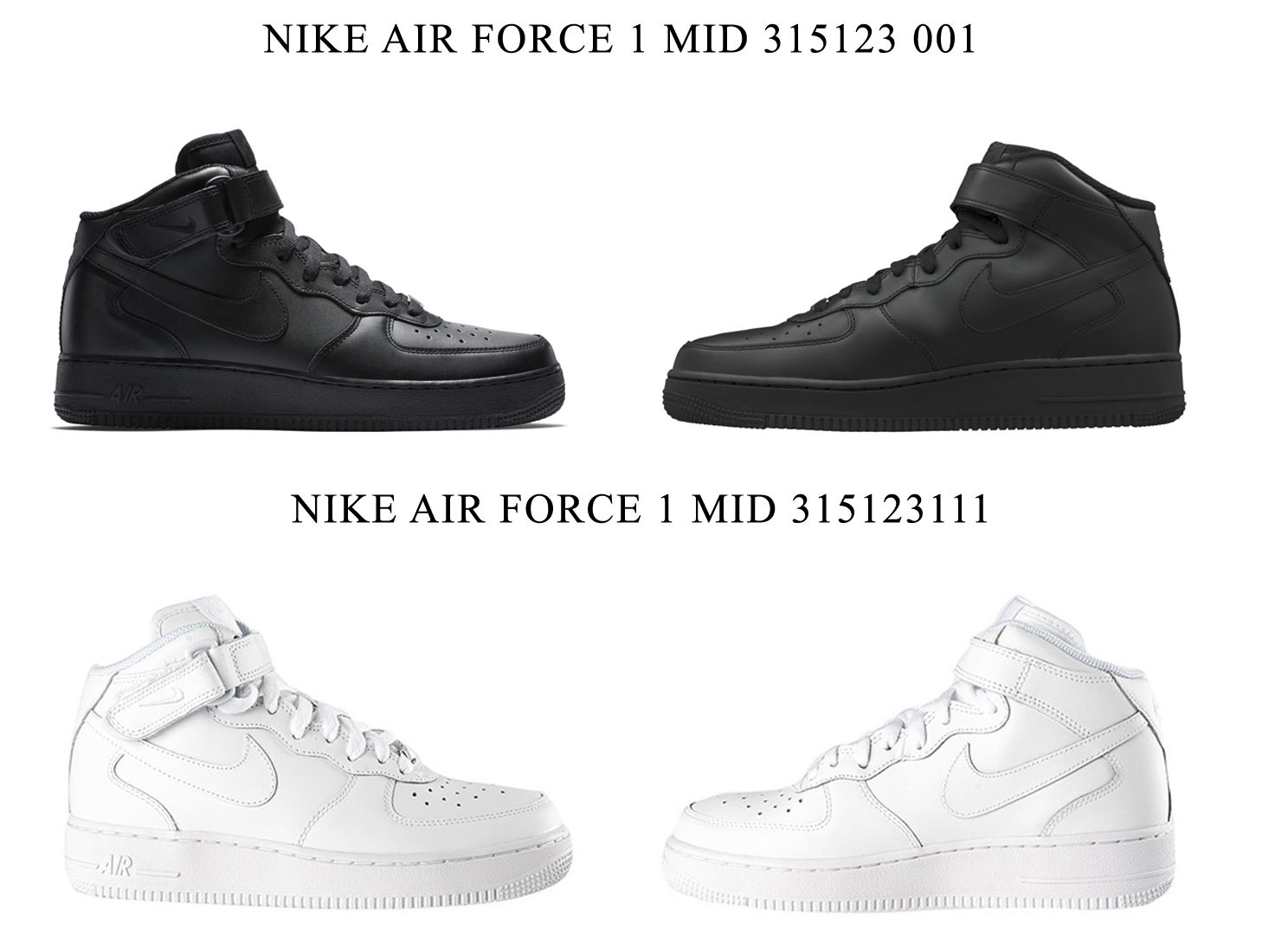 new arrival 0df16 5ee5d NIKE AIR FORCE 1 MID 315123 001 315123 111